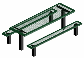 Model RSL6-IP | Thermoplastic Portable Square Table (Green/Black)