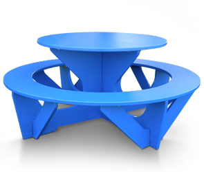 Kids round recycled plastic activity play picnic table belson recycled plastic kids picnic table blue watchthetrailerfo