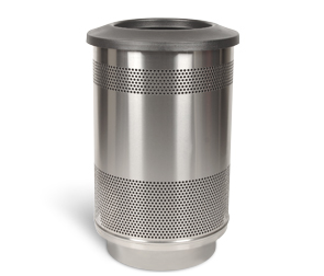Model SC55-01-SS-FT | Perforated Stainless Steel Round Trash Can