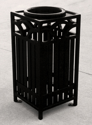 Model SFS | Summerfield Series Powder-Coated Cigarette Ash Urn (Bike Black)