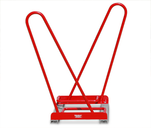 Model SHK-DBL-2-P | Shark™ Bike Rack | Double Sided - Holds 2 Bikes (Red)