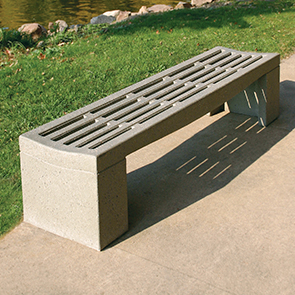 Model SL500 | Backless 6' Concrete Bench (Gray)