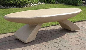 Model SL504 | Concrete Oval Park Bench (Buff)