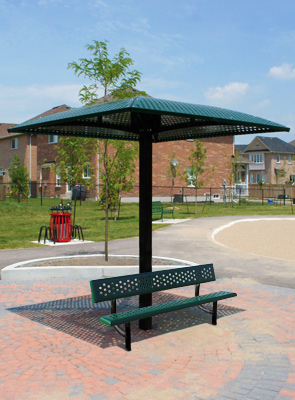 Perforated Outdoor Shade Structure Sun Shelters Belson