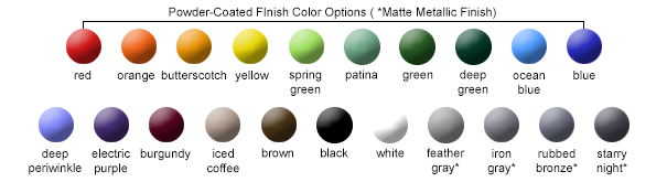 Powder-Coated Finish Color Options