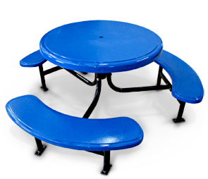 Model STM-10 | 6' Round Fiberglass Table (Blue/Black)