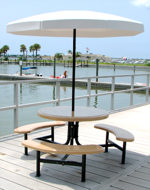 Round Fiberglass Picnic Table Picnic Tables Belson Outdoors