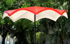 Model STM-5 | Round Fiberglass Umbrella | Wave
