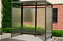 Flat Roof Smoking Shelter