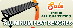 Special on Aluminum Backless Benches