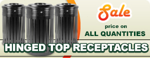 Sale on 24 Gallon Hinge Top Trash Receptacles