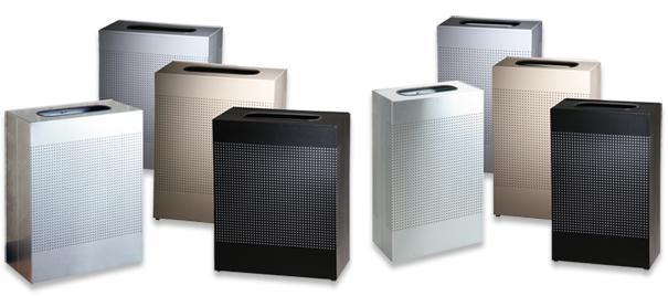 silhouette series rectangular trash cans