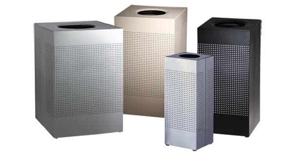Metal Outdoor Trash Cans Doors