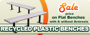 Recycled Plastic Backless Park Benches