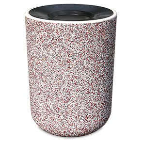 Model TF1085 | Round Concrete Trash Receptacle (Misty Gray)