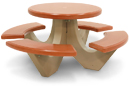 Custom Color Round Polished Concrete Picnic Table