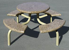 Model TF3138 | Round Concrete Picnic Table (Sand)