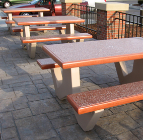 Rectangular Concrete Picnic Tables