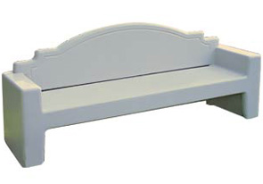 Model TF 5065 | Precast Concrete Bench (Gray)