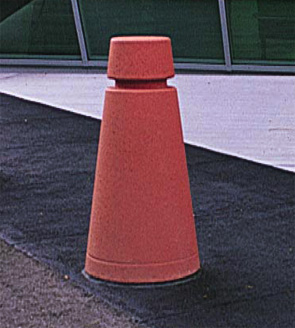 Model TF6071 | Precast Concrete Bollard (Brick Red)