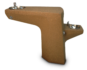 Model TF7071 | Concrete Drinking Fountain with One Spout and Bowl (Brown)