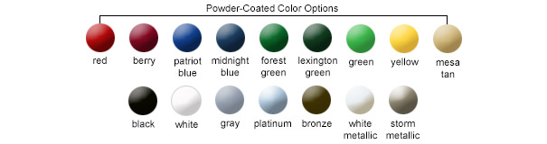 Powder-Coated Color Options