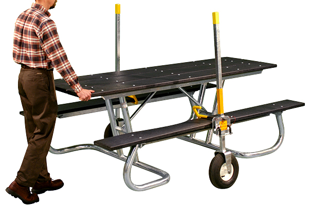The Portable Picnic Table Mover Belson Outdoors - Picnic table mover