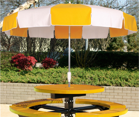 Vinyl Umbrella with Crank Lift