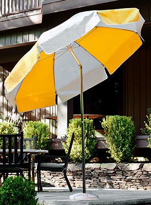 Model UMB75-P-S | Vinyl Umbrella with Steel Pole
