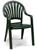 Model US0920 | Pacific Fanback Resin Chair (Amazon Green)