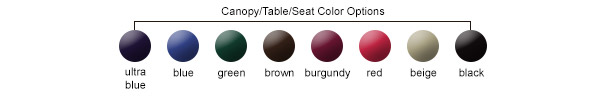Canopy/Table/Seat Color Options