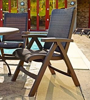Superbe Model US356037 | Java All Weather Wicker Folding Chair (Espresso  Wicker/Bronze Mist