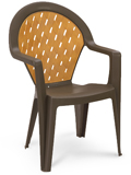 Model US362037 | Amazona Resin Chair with Wood Style Finish (Bronze Mist)