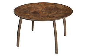 Sunset Collection 42 inch round table | (color) Fusion Bronze with Lava Top