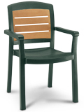 Model US453078 | Aquaba Resin Chair with Wood Style Finish (Amazon Green)