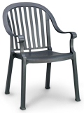 Model US496502 | Colombo Resin Chairs with Metal Style Finish (Charcoal)