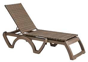 Model US465208 | Java Wicker Chaise Lounges (Moccachino Wicker/Taupe Frame)
