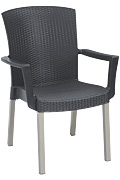 Model US903002 | Havana Armchair with Charcoal Wicker Finish