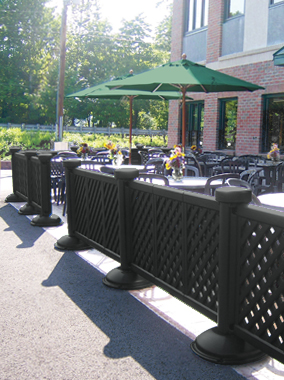 Portable Decorative Patio Fence