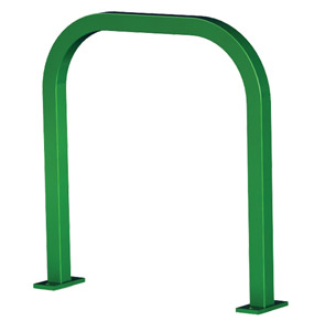 Model UX200-SF-P | Extended Square 'U' Bike Rack (Forest Green)