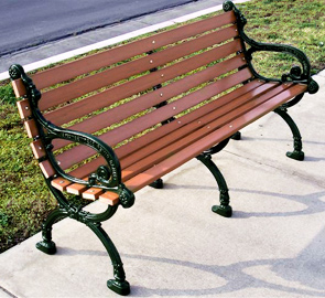 Model VBP-60-R | Recycled Plastic Victorian Park Bench (Hunter Green Frame)