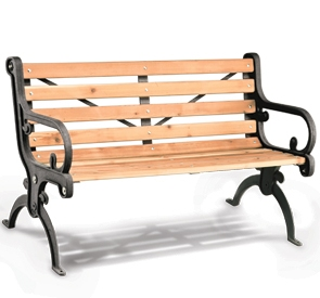 Villa Style Park Bench Wood Park Benches Belson