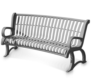 Premier Vintage Curved Benches Metal Park Benches