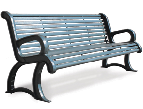 Parkview Metal Bench Metal Park Benches Belson Outdoors
