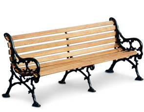 Model WBLF-80-W | Woodland Style | Wood Park Bench