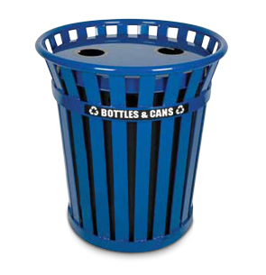 Model WCR36-FTR-BL | Wydman Collection 36 Gallon Recycling Receptacle (Blue)
