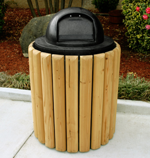 Slat Style Trash Cans Wood Trash Receptacles Belson
