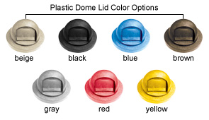 Dome Top Lids - Plastic