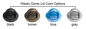 Plastic Dome Lid Color Options