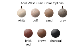 Acid Wash Stain Color Options